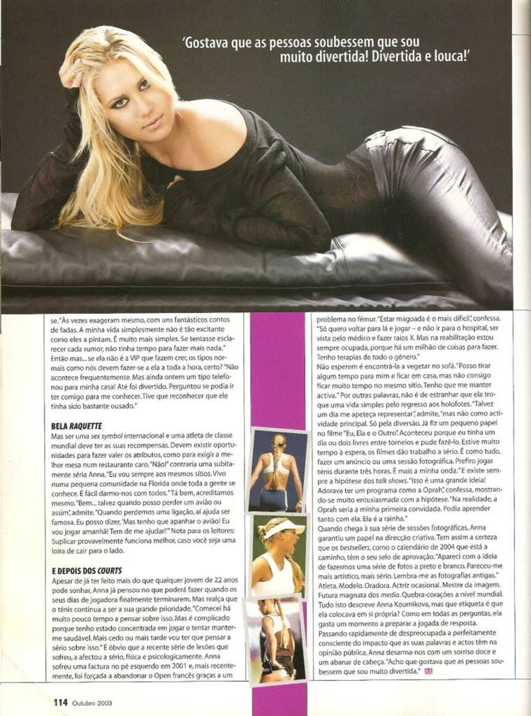 Anna Kournikova in Maxmen Portugal October 2003