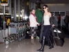 AnnaLynne McCord in leggings at LAX Airport