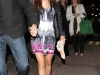 Ashley Tisdale leggy at Beso Restaurant