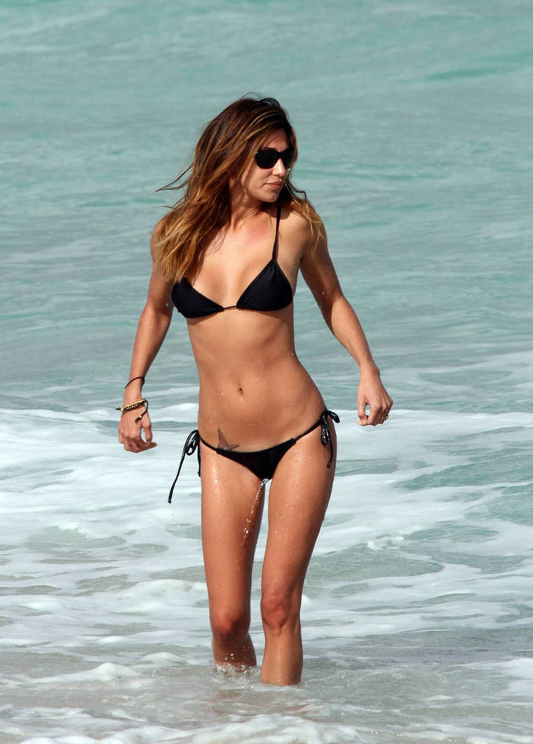 Belen Rodriguez in bikini at Miami