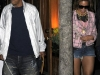 Beyonce Knowles leggy in denim shorts - Nello in NY