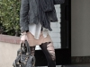 Dakota Fanning in Ripped Leggings out and about in LA