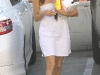 Eva Longoria at Wendy's Restaurant