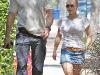 Hayden Panettiere in skirt walking in West Hollywood with Wladamir Klitchko