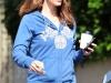 Jennifer Garner heading to a friends house in Santa Monica