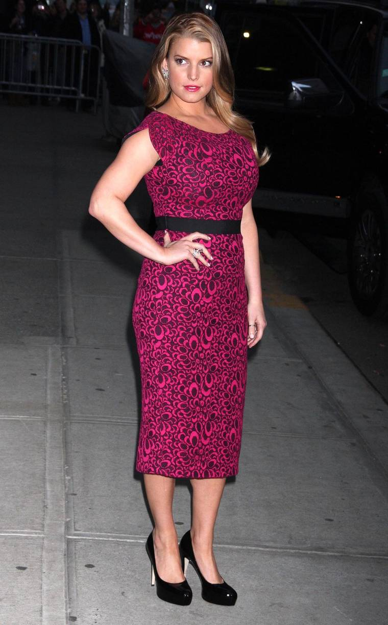 "Jessica Simpson at the ""Late Show with David Letterman"""