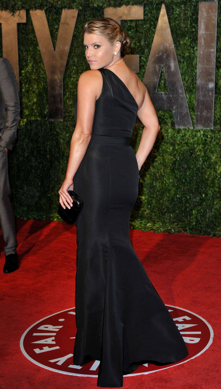 Jessica Simpson at Vanity Fair Oscar party in Hollywood