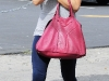 Kate Beckinsale in leggings and boots having lunch in Westwood