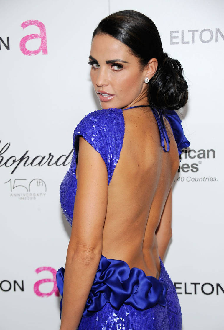 Katie Price at 18th Annual Elton John AIDS Foundation Academy Award Party