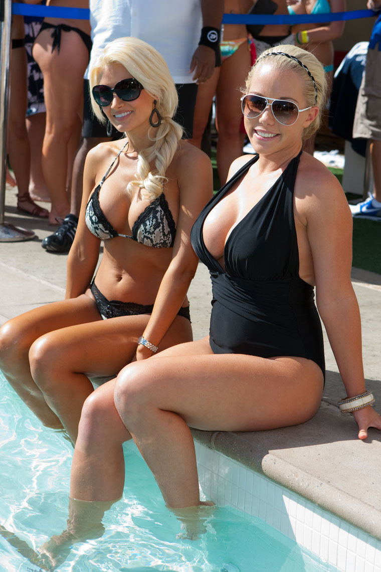Kendra Wilkinson and Holly Madison in Bikinis