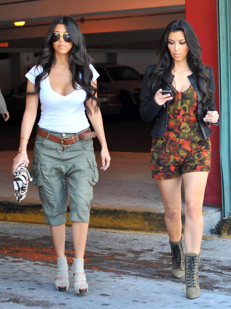 Kim and Kourtney Kardashian in Miami