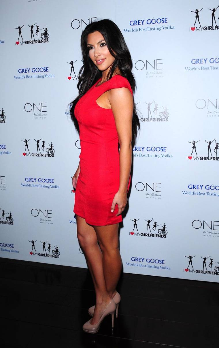 Kim Kardashian at I Heart My Girlfriends charity launch