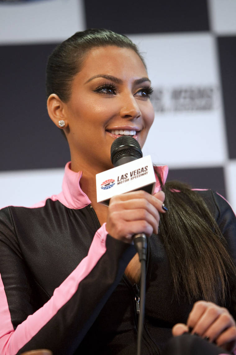 Kim Kardashian at NASCAR 2010