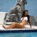 Kim Kardashian In A White Bikini April 2010