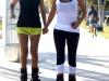 Kim & Kourtney Kardashian Cleavy in South Beach