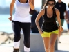Kim & Kourtney Kardashian Cleavy in South Beach