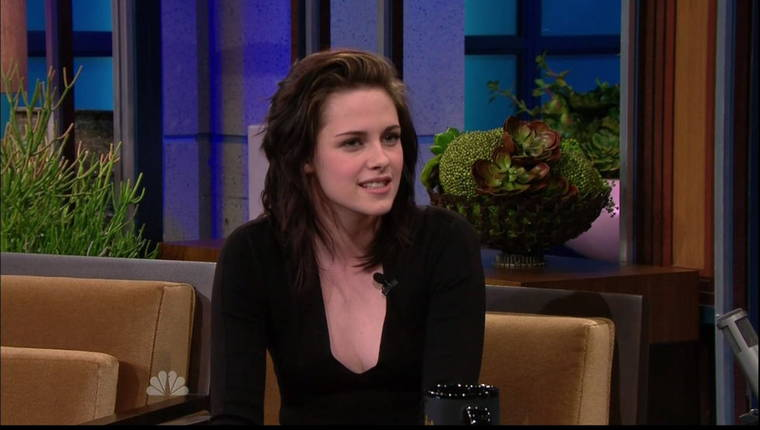 "Kristen Stewart on the ""Tonight Show with Jay Leno"""