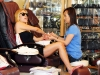 Kristin Cavallari  At a nail salon in Los Angeles