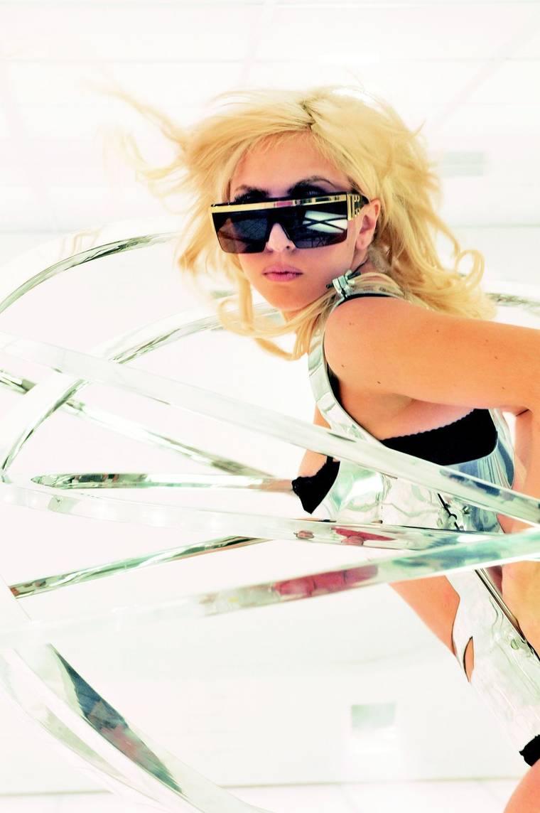 Lady Gaga at Bad Romance Videoshoot