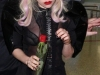 Lady GaGa in fishnets at Sydney Airport