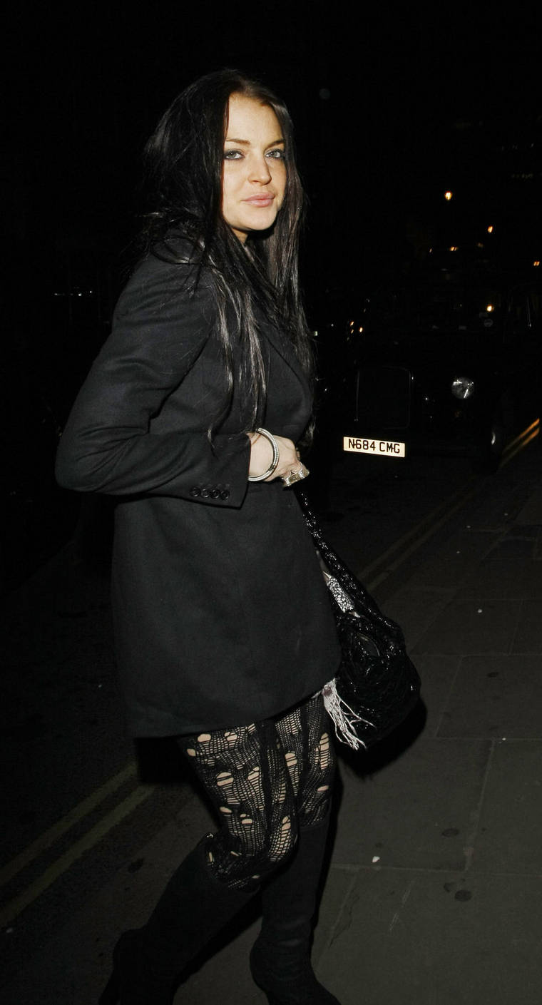 Lindsay Lohan at Bungalow 8 in London