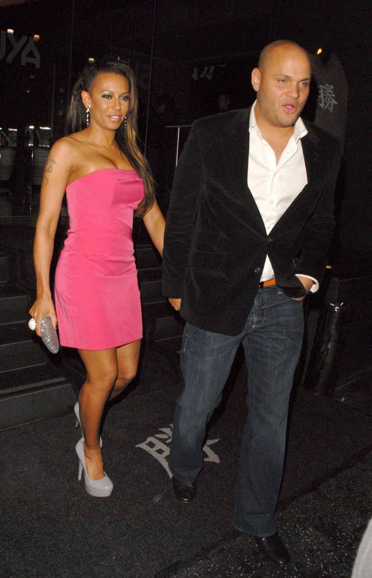 Melanie Brown - Mel B at Katusya Restaurant in Hollywood