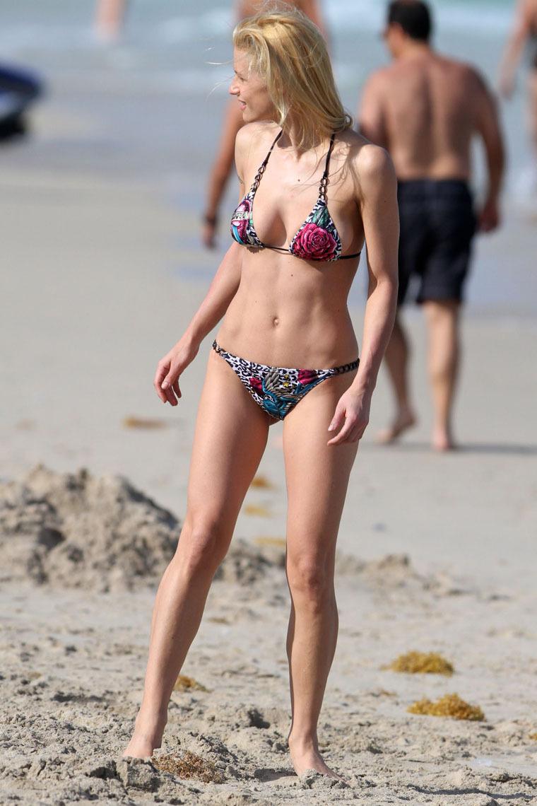 Michelle Hunziker in a Bikini