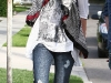 Miley Cyrus in Reaped Jeans in Toluca Lake