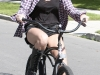 Miley Cyrus - in Toluca Lake Riding her bike
