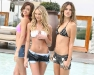 Miranda Kerr, Candice Swanepoel and Alessandra Ambrosio celebrated the 15th Anniversary of the Victoria's Secret Swimsuit Catalog