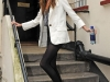 Nadine Coyle Posing for Paps