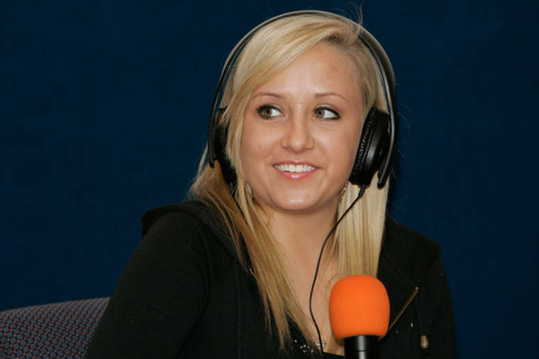 Nastia Liukin at Boston Mix 104.1 FM Cares for Kids Radiothon in Boston