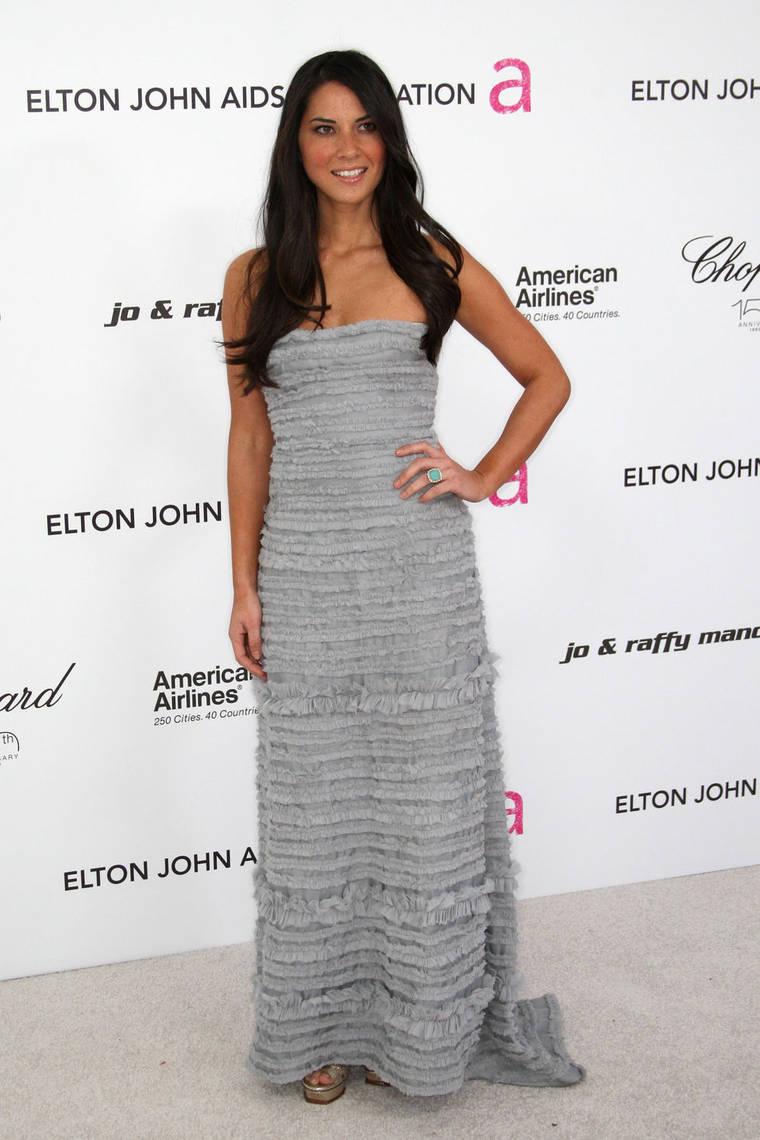 Olivia Munn at 18th Annual Elton John AIDS Foundation Academy Award Party