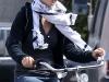 Olivia Wilde at her bike in Los Angeles