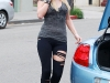 Paris Hilton in Leggings in Los Angeles