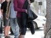 Renee Zellweger in tight leggings at a Starbucks