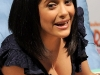 Salma Hayek at Nickelodeon Animation Studio reading Dora The Explorer book