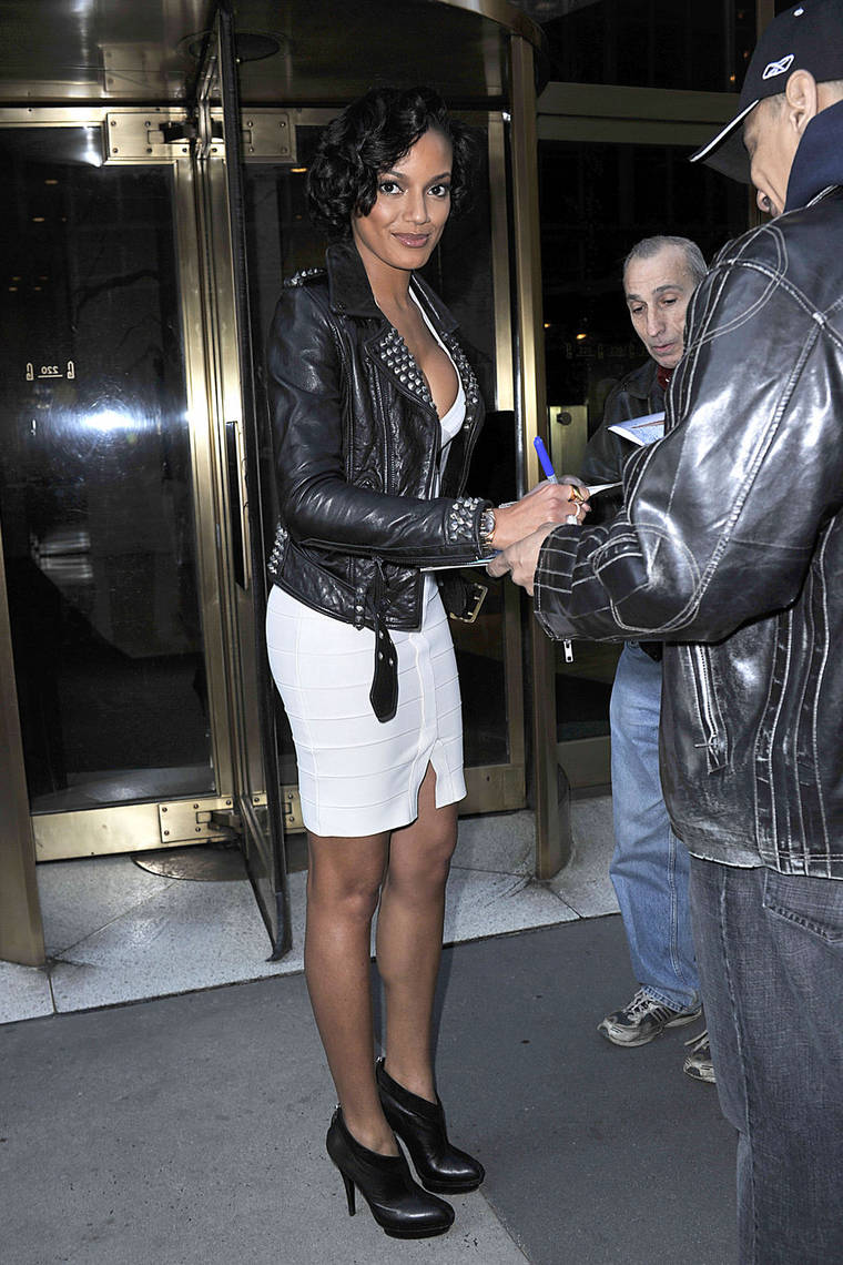 Selita Ebanks at the CW Studios in New York City