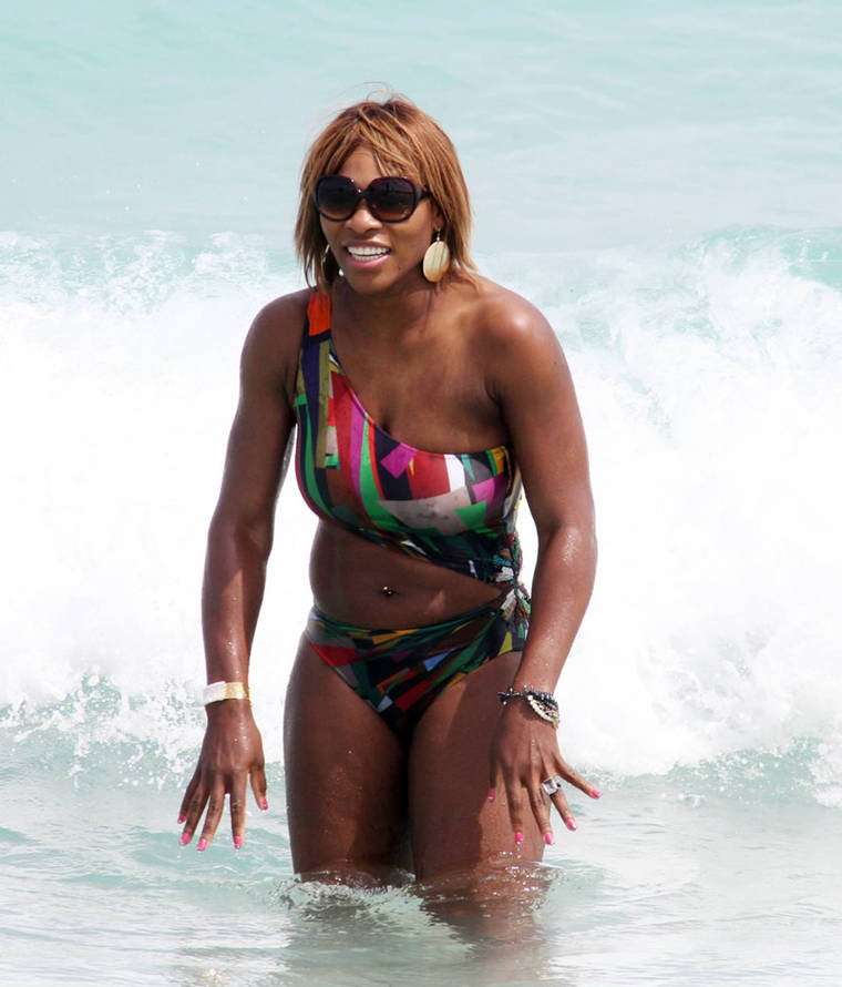 Serena Williams in a bikini at Miami