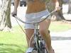 Sophie Monk in a bikini at bike riding