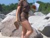 Sophia Bush in bikini on the set of One Tree Hill