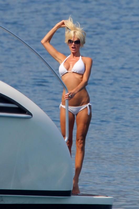 Victoria Silvstedt Bikini Candids on a Yacht
