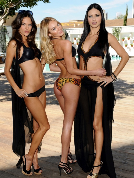Victoria's Secret Angels Swimwear Launch 2011 in LA