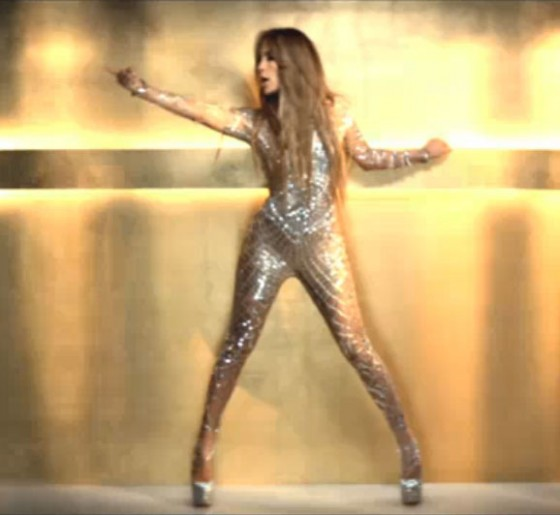 "Jennifer Lopez debuted her latest music video ""On The Floor"""