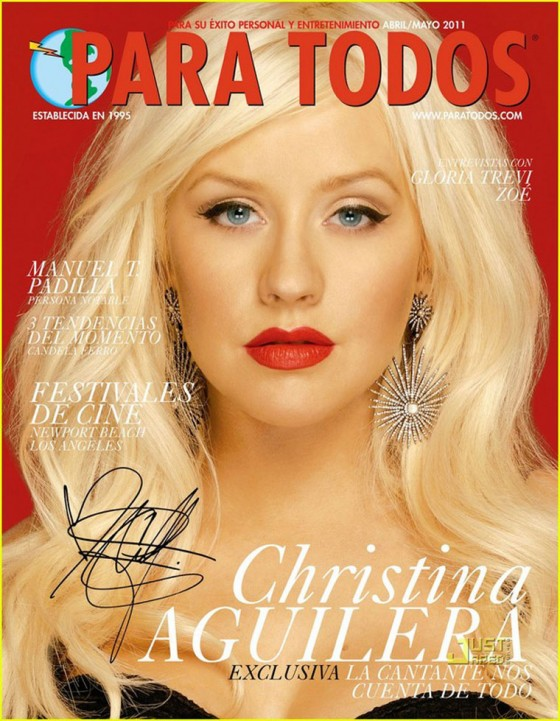 Christina Aguilera Covers 'Para Todos' April/May 2011