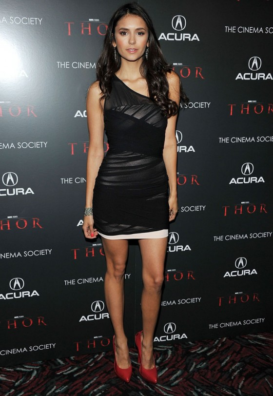 "Nina Dobrev - Attending the screening of ""Thor"""