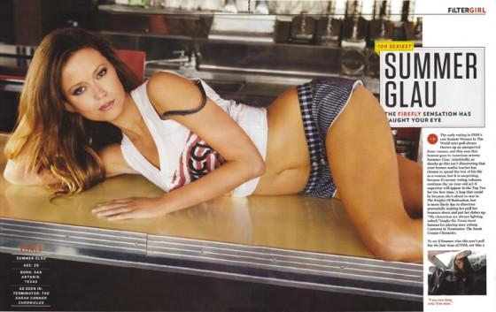 Summer Glau on FHM Magazine UK May 2011 Scan