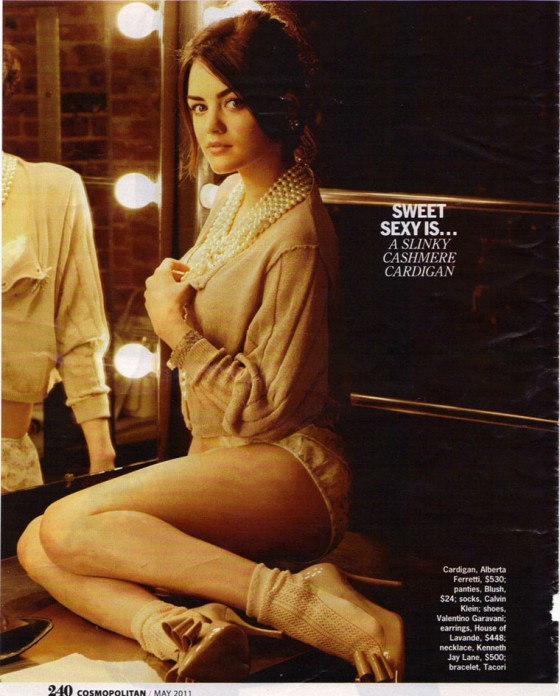 Lucy Hale - Cosmopolitan Magazine (May 2011)