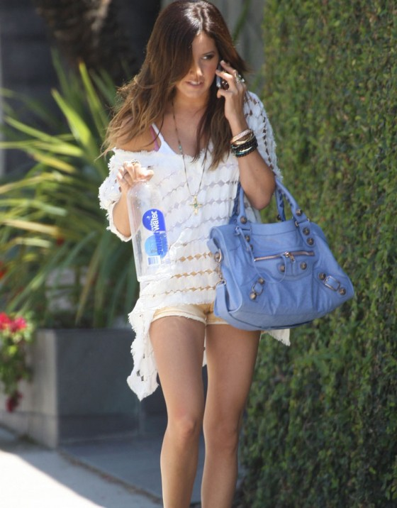 Ashley Tisdale - Sexy Leggy Candids In Studio City