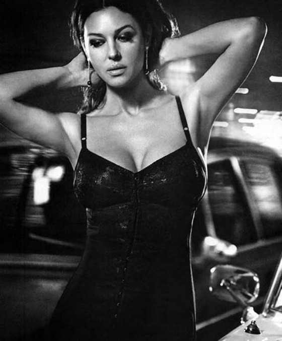 Monica Bellucci - Hot Cleavage for Vogue Magazine Italia Gorgeous B&W Photoshoot 2011